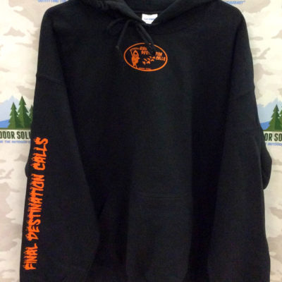 Black Hooded Sweatshirt with Blaze Logo from Final Destination Calls