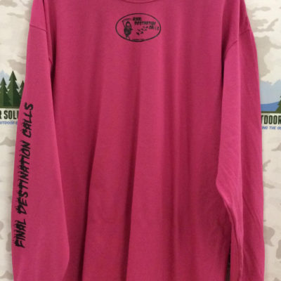 Cyber Pink Long Sleeve Tee with Black Logo from Final Destination Calls