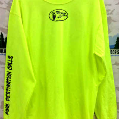 Final Destination Calls Tee Shirt Safety Green