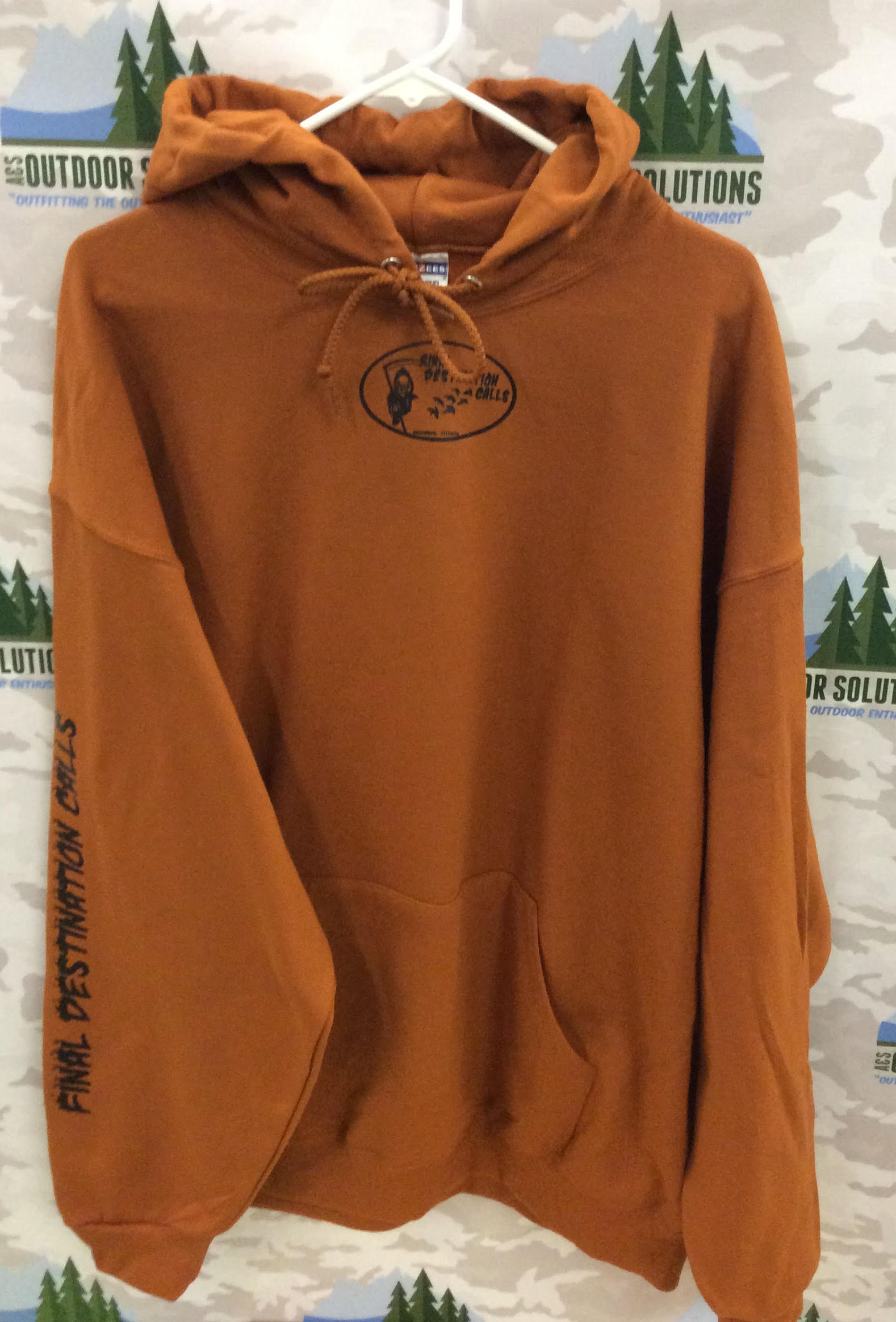 Texas Orange Hooded Sweatshirt with Black Logo from Final Destination Calls