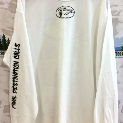 Final Destination Calls Tee Shirt Printed Long Sleeve White
