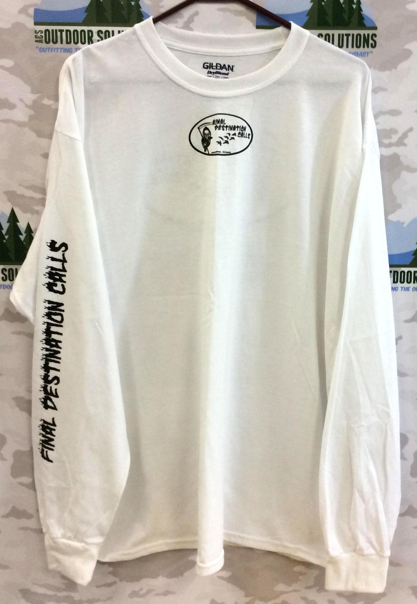 Final Destination Calls Tee Shirt Printed Long Sleeve White