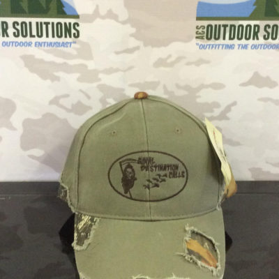 Olive and Camo-patched with Brown Logo from Final Destination Calls
