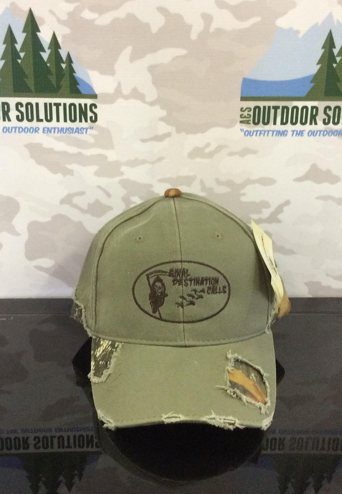 Olive and Camo-patched with Brown Logo from Final Destination Calls ... ad0936adeda