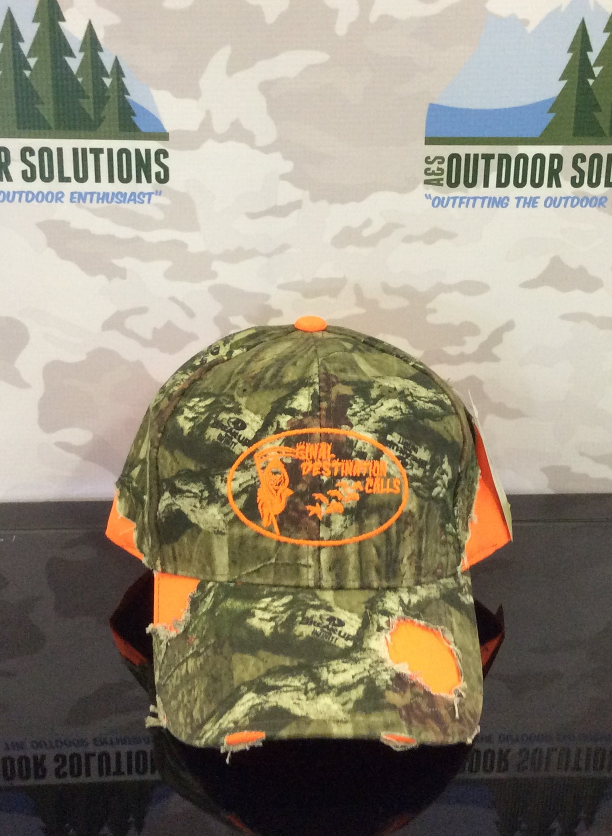 Camo Cap with Blaze Patches and Logo from Final Destination Calls