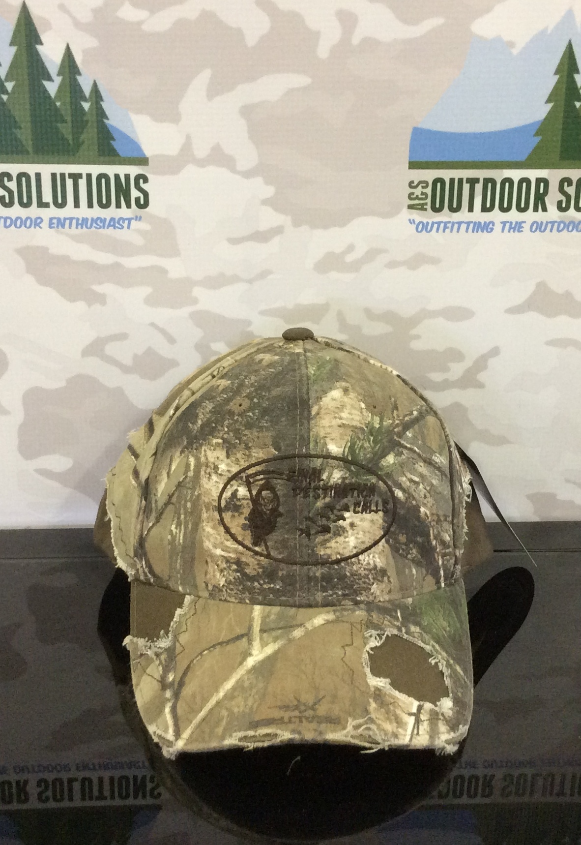 Camo Cap with Brown Patches and Logo from Final Destination Calls