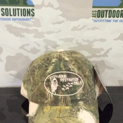 Camo Cap with Pink Patches and Logo from Final Destination Calls