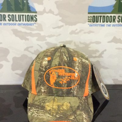 Realtree Camo Cap with Blaze Inserts and Logo from Final Destination Calls