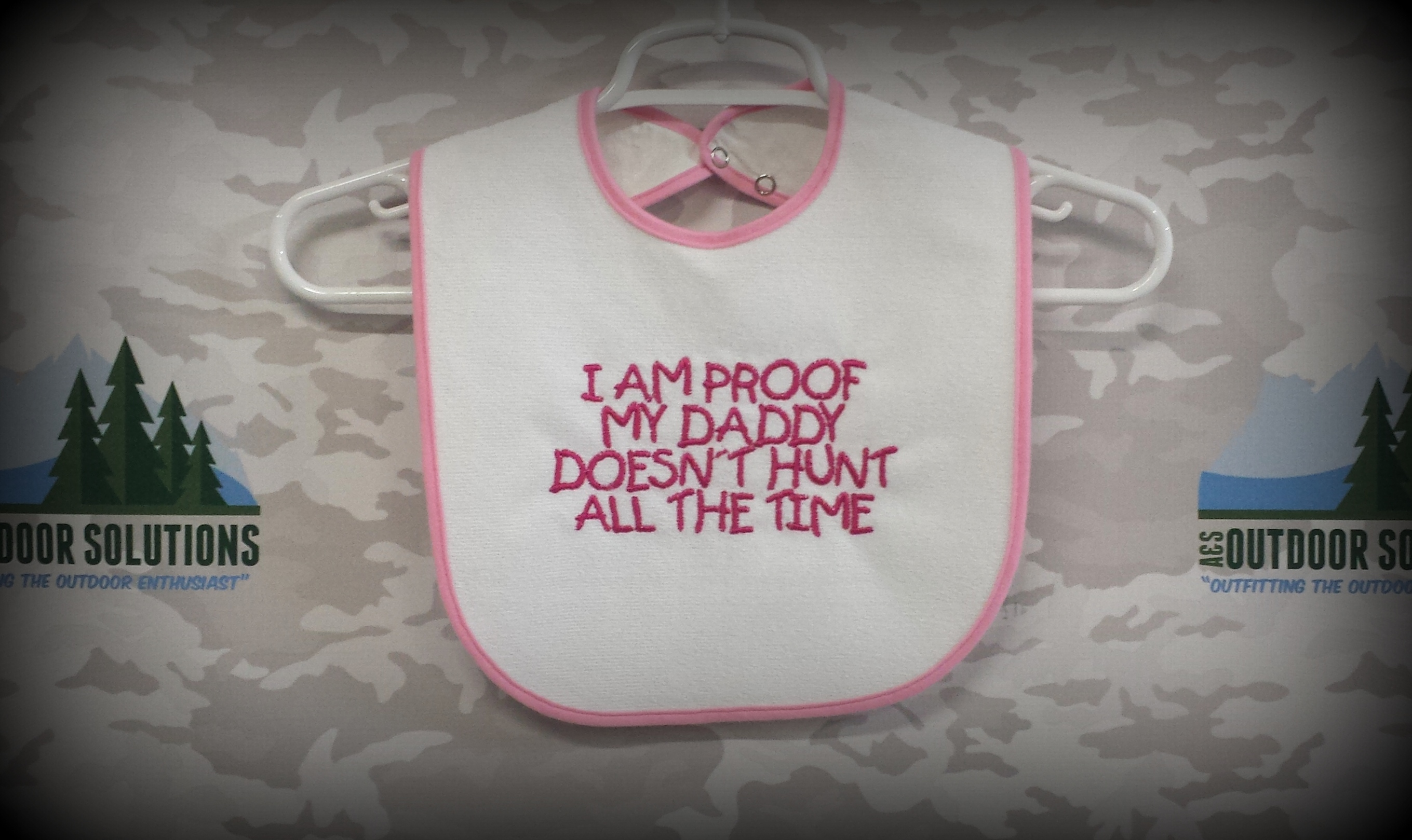 Pink proof baby bib