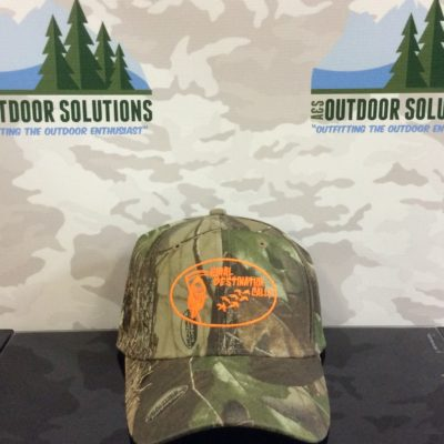 Hardwoods Green Cap with Orange Logo from Final Destination Calls