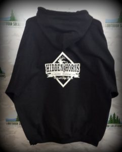 Black hoodie back