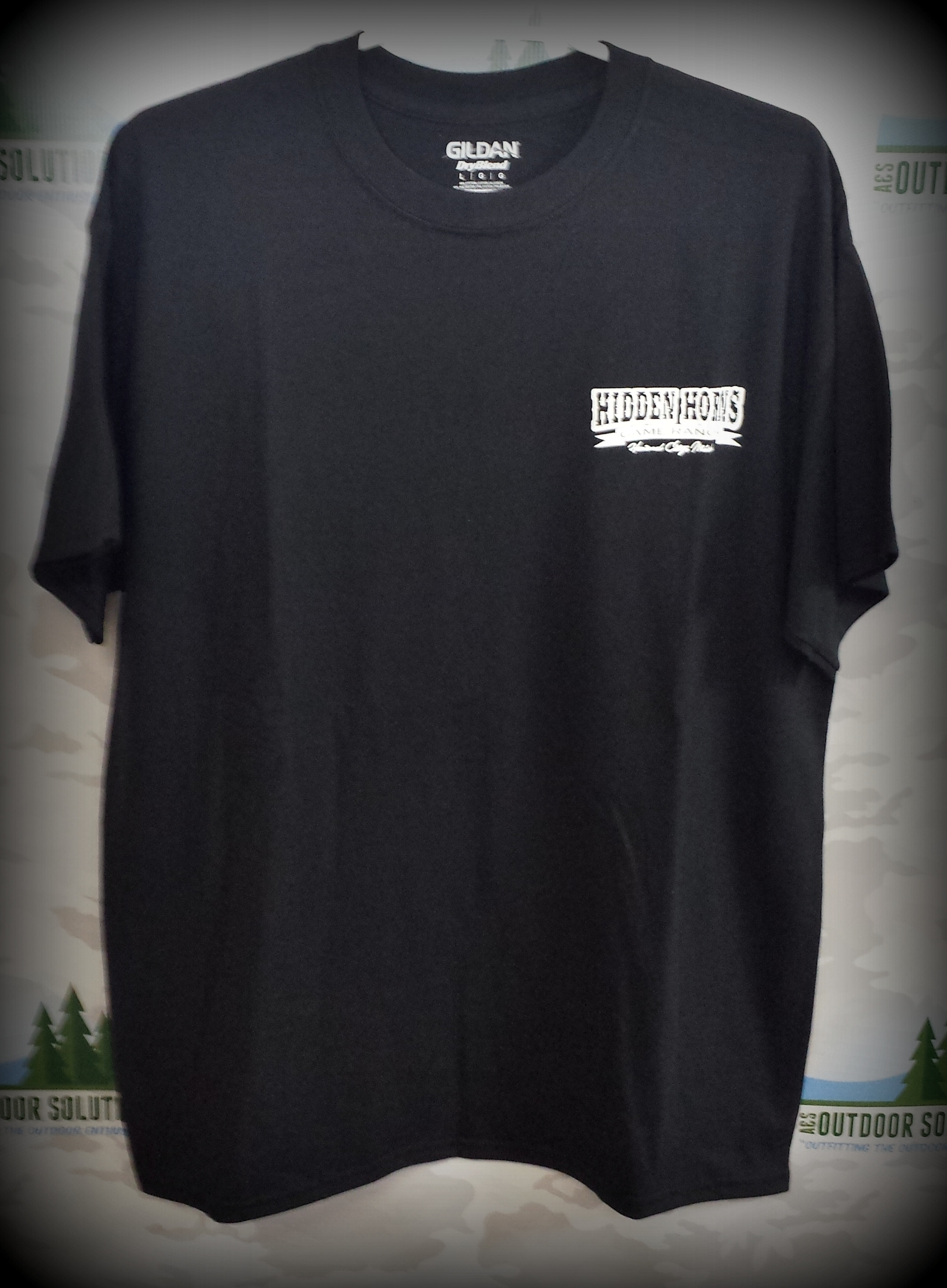 Black Short Sleeve Tee Front