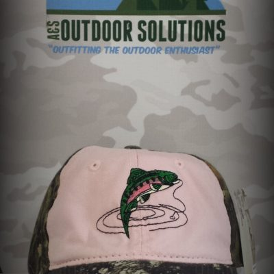 Camouflage Frayed Unstructured Ladies Cap