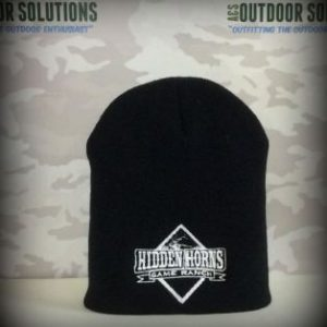 Hidden Horns Game Ranch Black with white logo in Beanies