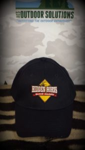 Hidden Horns Game Ranch Black with full color in Ball Caps