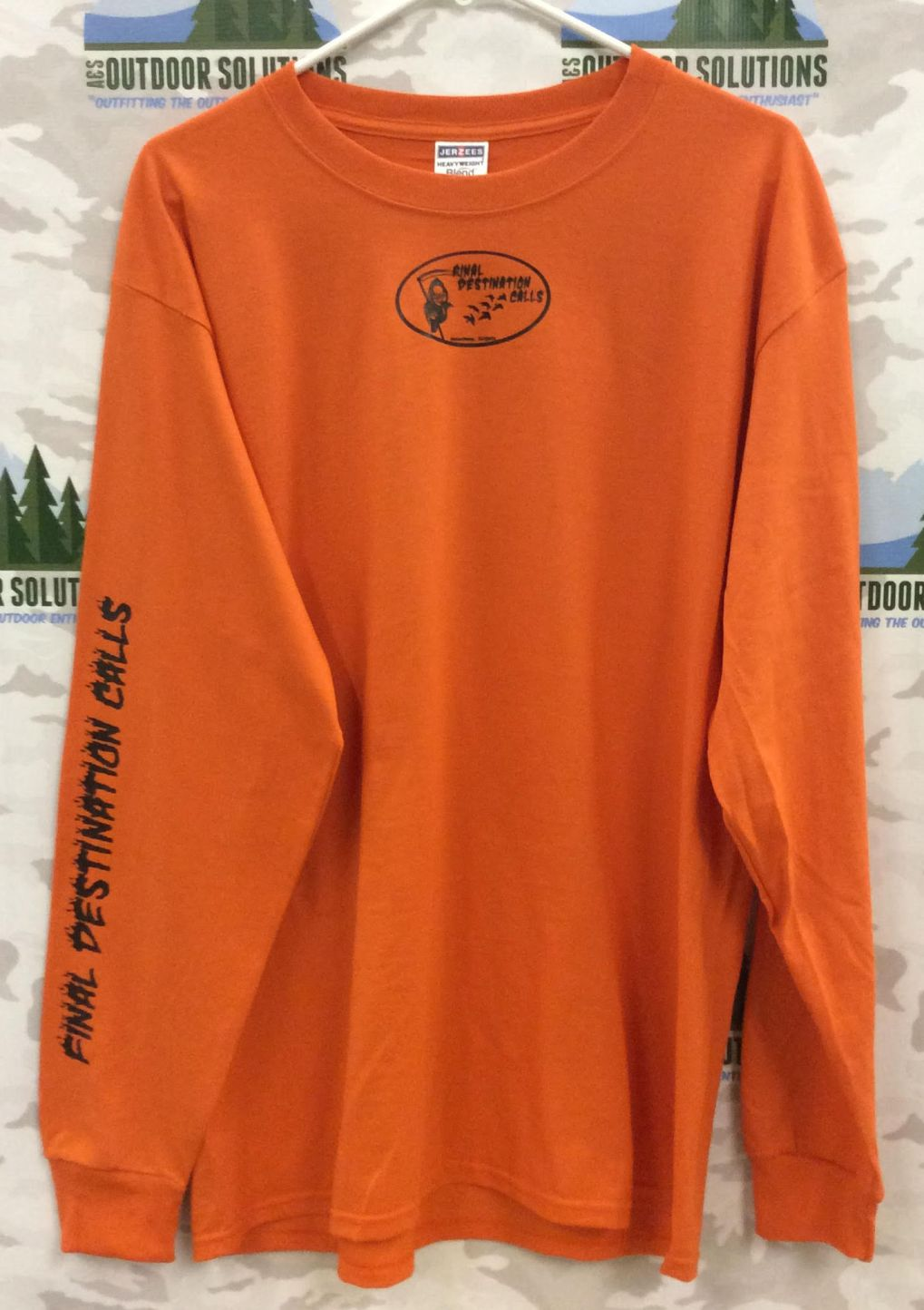 Final Destination Calls Long Sleeve Tee Shirt Burnt Orange